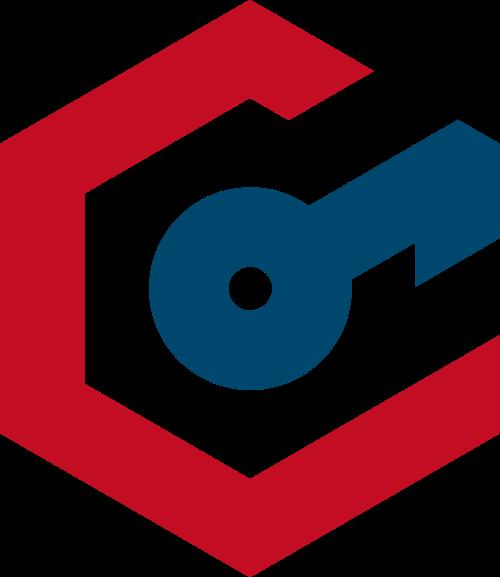 彩色锁头矢量logo图标