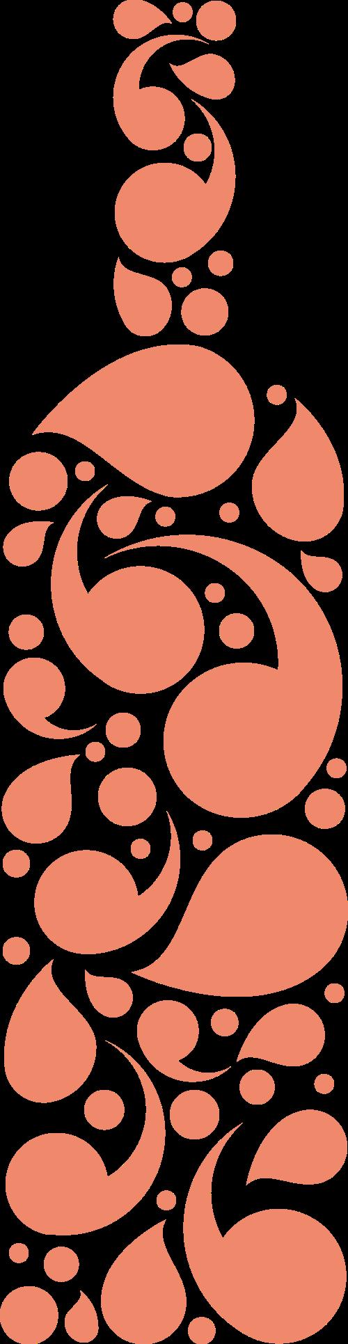 橙色酒瓶矢量logo元素