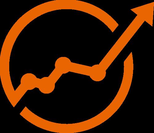 橙色箭头矢量logo图标