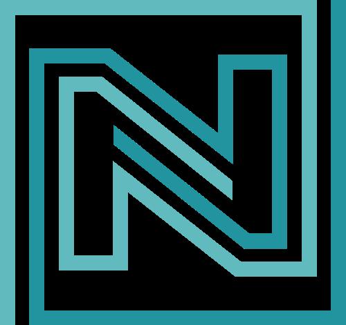 绿色字母N矢量logo图标
