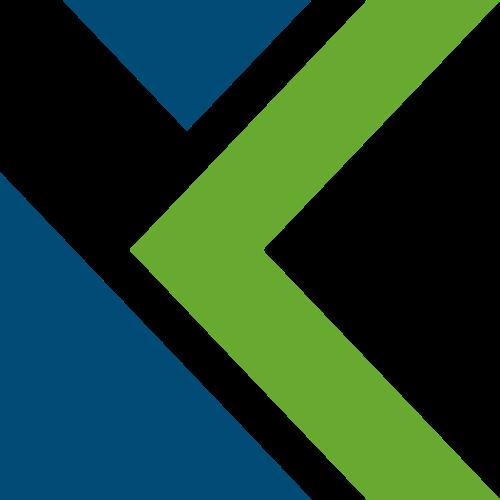 蓝绿色字母K矢量logo图标