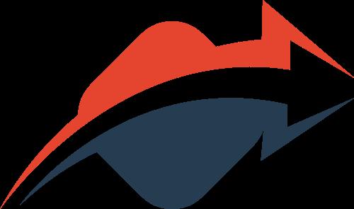 红蓝箭头矢量logo元素