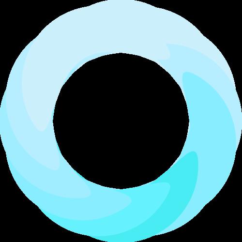 蓝色渐变圆环矢量logo图标