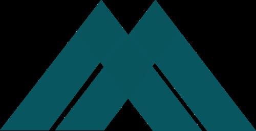 绿色角形矢量logo图标