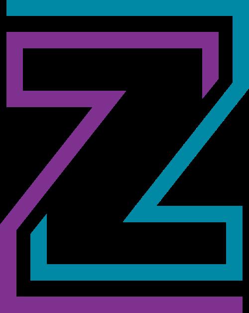 蓝紫色字母Z矢量logo图标