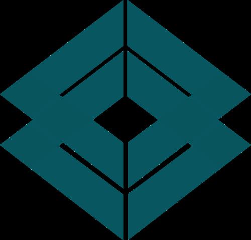 绿色正方形矢量logo图标