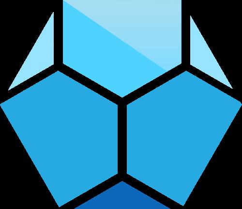 蓝色六边形矢量logo图标