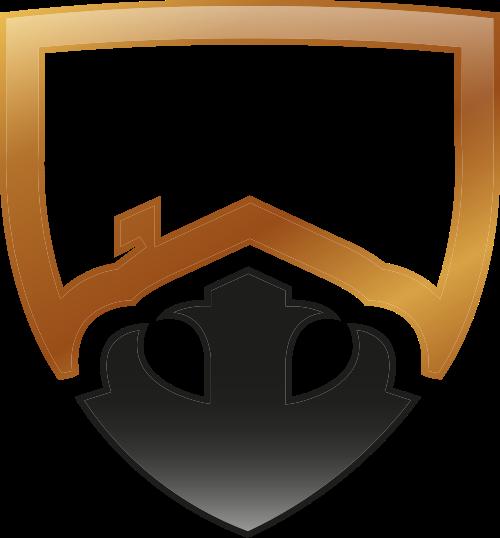 金色盾牌矢量logo图标