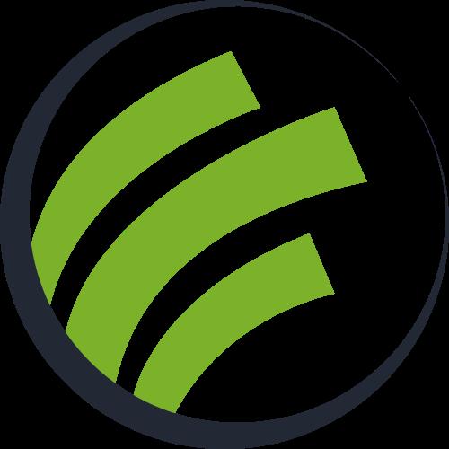绿色圆形商务矢量logo图标