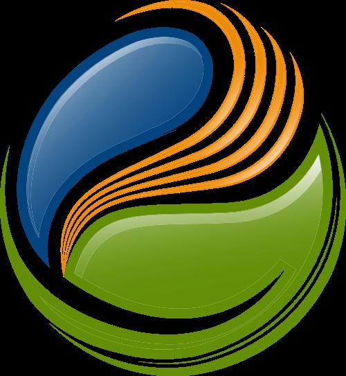 彩色树叶矢量logo图标