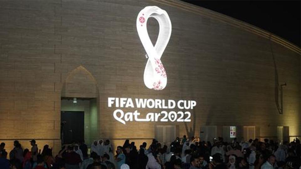 """2022年足球世界杯 LOGO 被说像""""鱿鱼圈"""""""