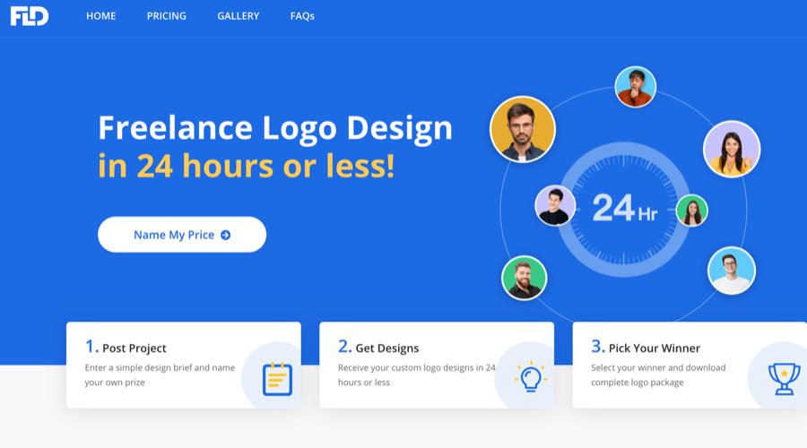 这家国外Logo设计网站太强了,50美金收到200多个方案...