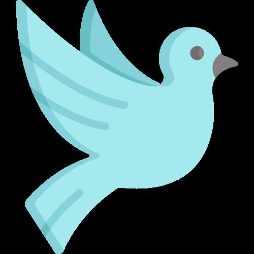 蓝色飞鸽矢量图标矢量logo