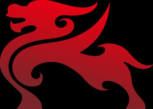 红色麒麟矢量图标