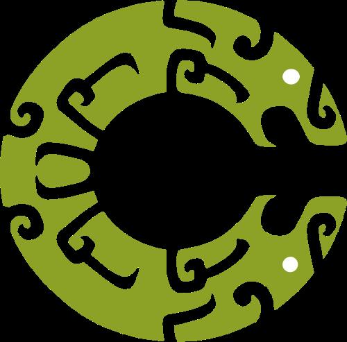 绿色古代青铜时代LOGO图案