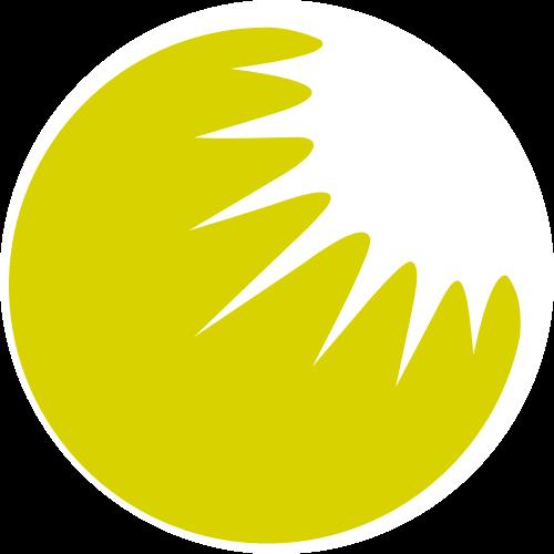 绿色圆形阳光LOGO图标