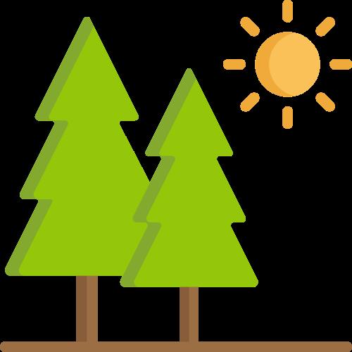 绿色树林LOGO图标
