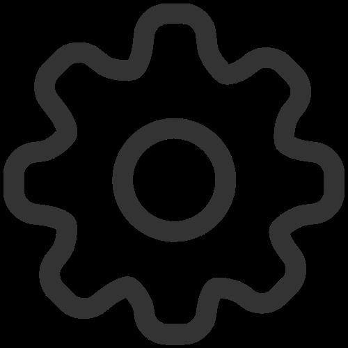 工业齿轮矢量logo图标