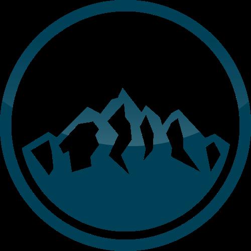 圆形山峰矢量logo素材