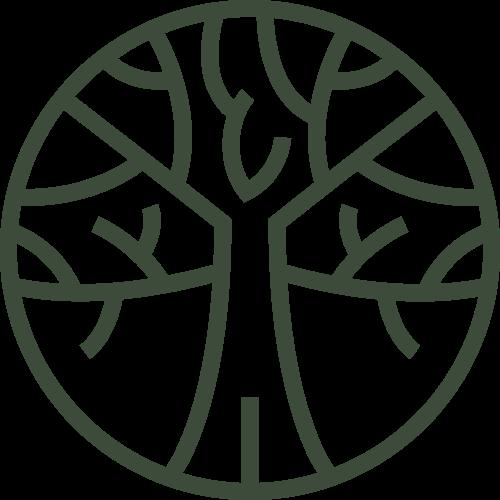 绿色线条大树矢量图标