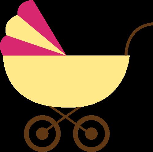 婴儿车矢量logo图标