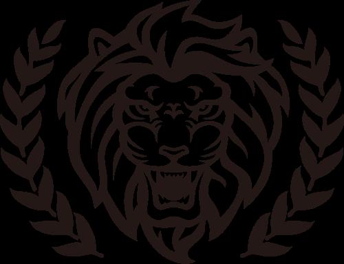 威武熊狮头像矢量logo图标