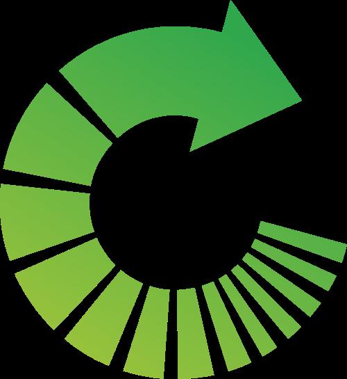 绿色环保环状箭头矢量logo图标
