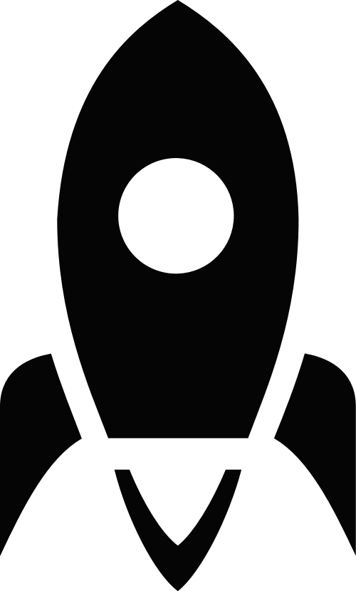 黑色火箭矢量logo图片