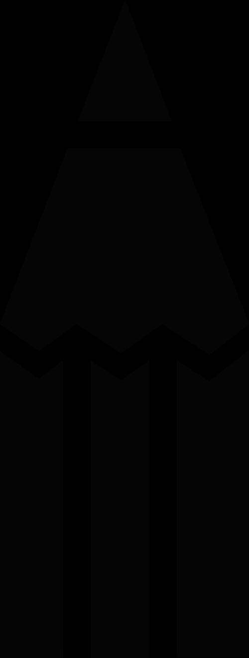 黑色铅笔笔尖矢量logo图片