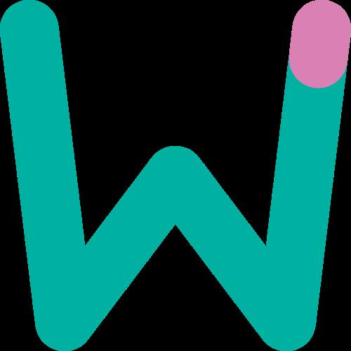 字母W双色矢量logo图标