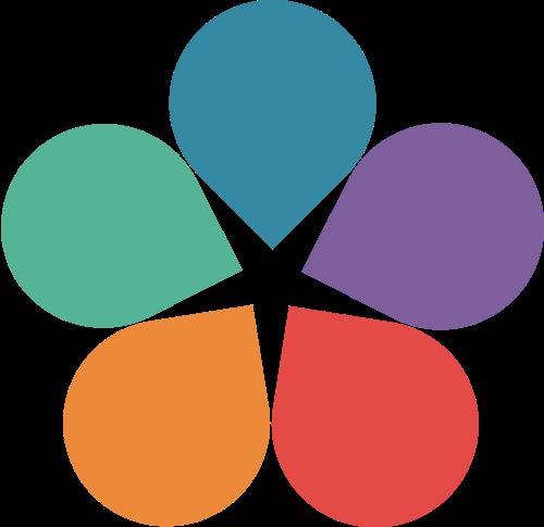 水滴花矢量logo图标