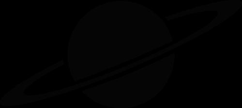 黑色星球环状带矢量logo图片
