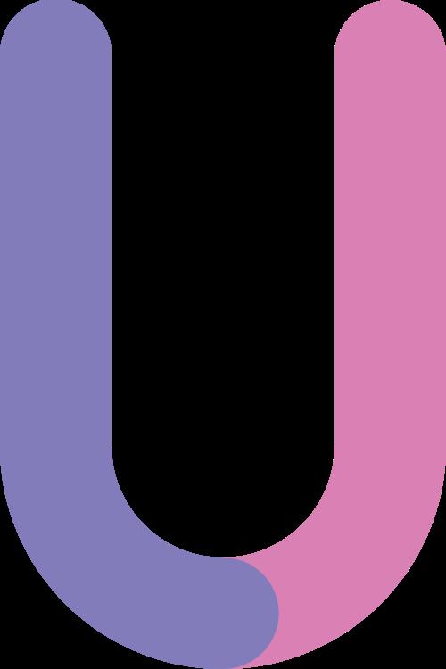 字母U双色矢量logo图标