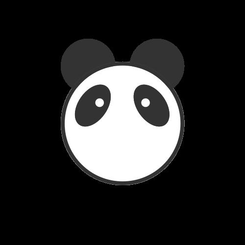 卡通小熊猫矢量logo图标