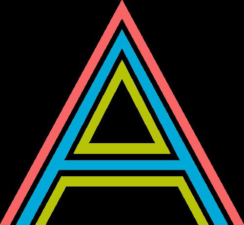 字母A三色矢量logo图标