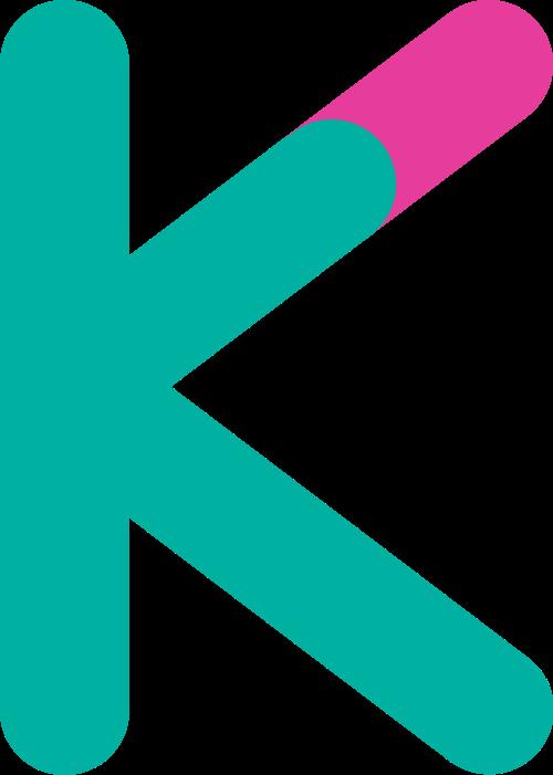 字母K双色logo素材图片
