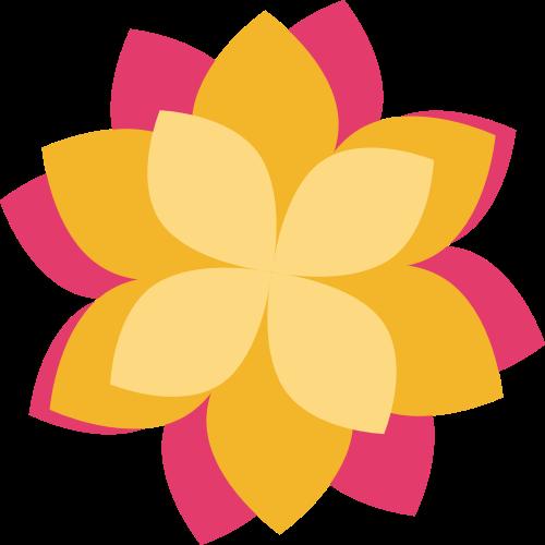 三色立体花瓣矢量logo图标