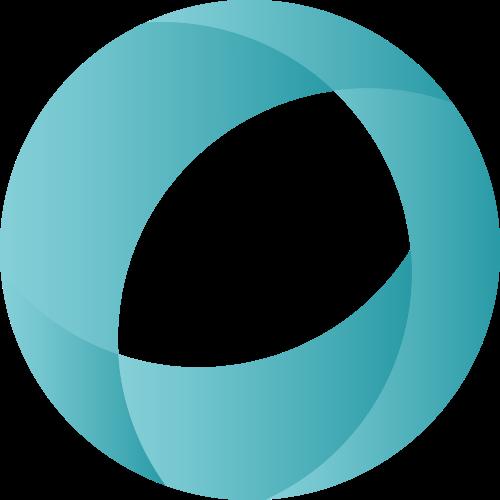 立体圆形蓝色渐变矢量图标