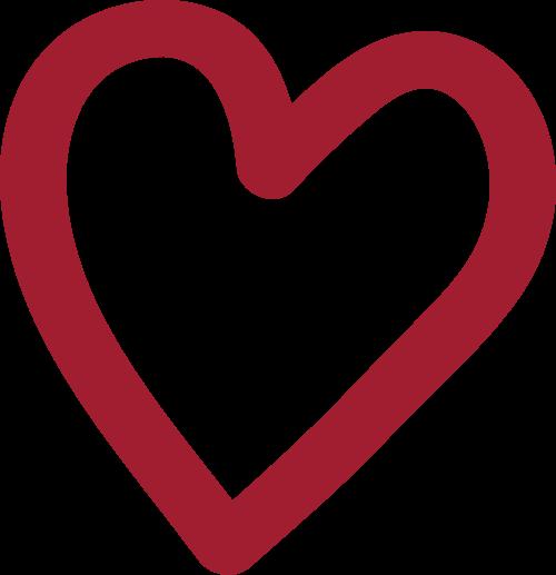 红色简单爱心矢量logo图标