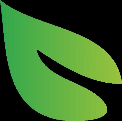 绿色单叶logo设计素材