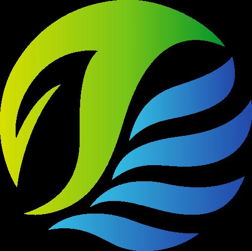 渐变绿色环保矢量logo图标