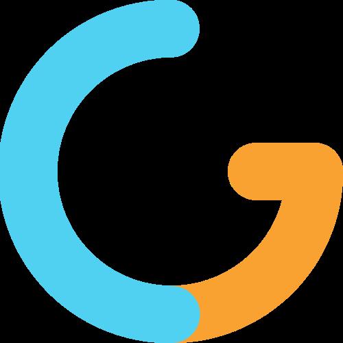 字母G双色矢量logo图标