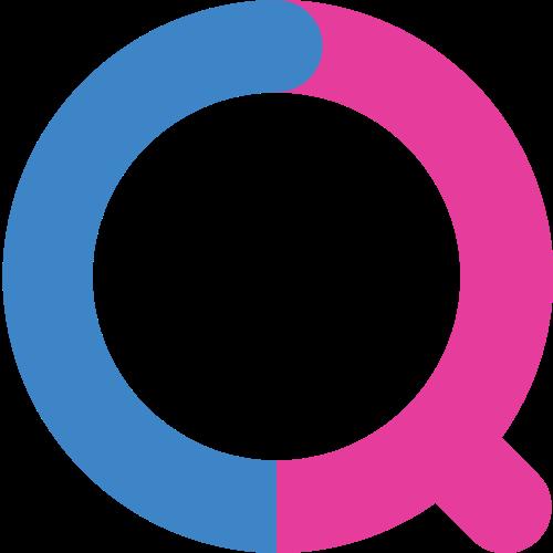 字母Q双色矢量logo图标