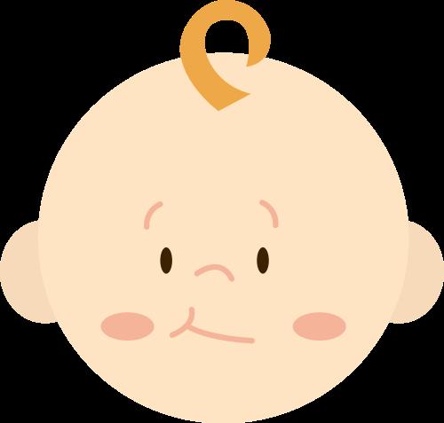 卡通宝宝婴儿头像矢量logo图标