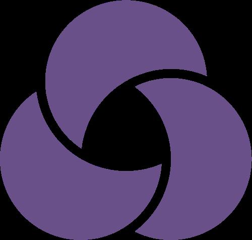 紫色环状花朵矢量logo图标