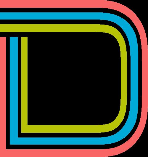 字母D三色logo设计素材