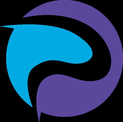紫色蓝色字母P抽象logo素材图片
