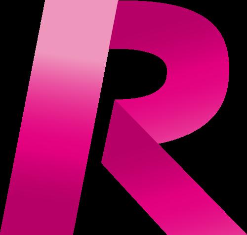 红色字母R折纸矢量logo图片矢量logo