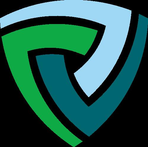 三角防护盾牌logo设计素材
