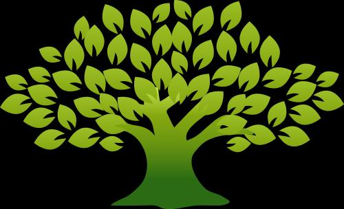 绿色大树矢量logo图标